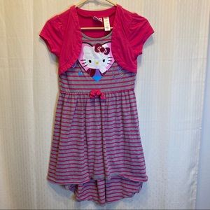 Hello Kitty stripped dress with attached jacket.